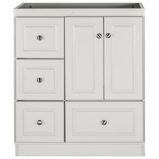 Left Drawers Antique White Solid Wood