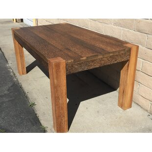 Chad Solid Wood Dining Table Bay Isle Home