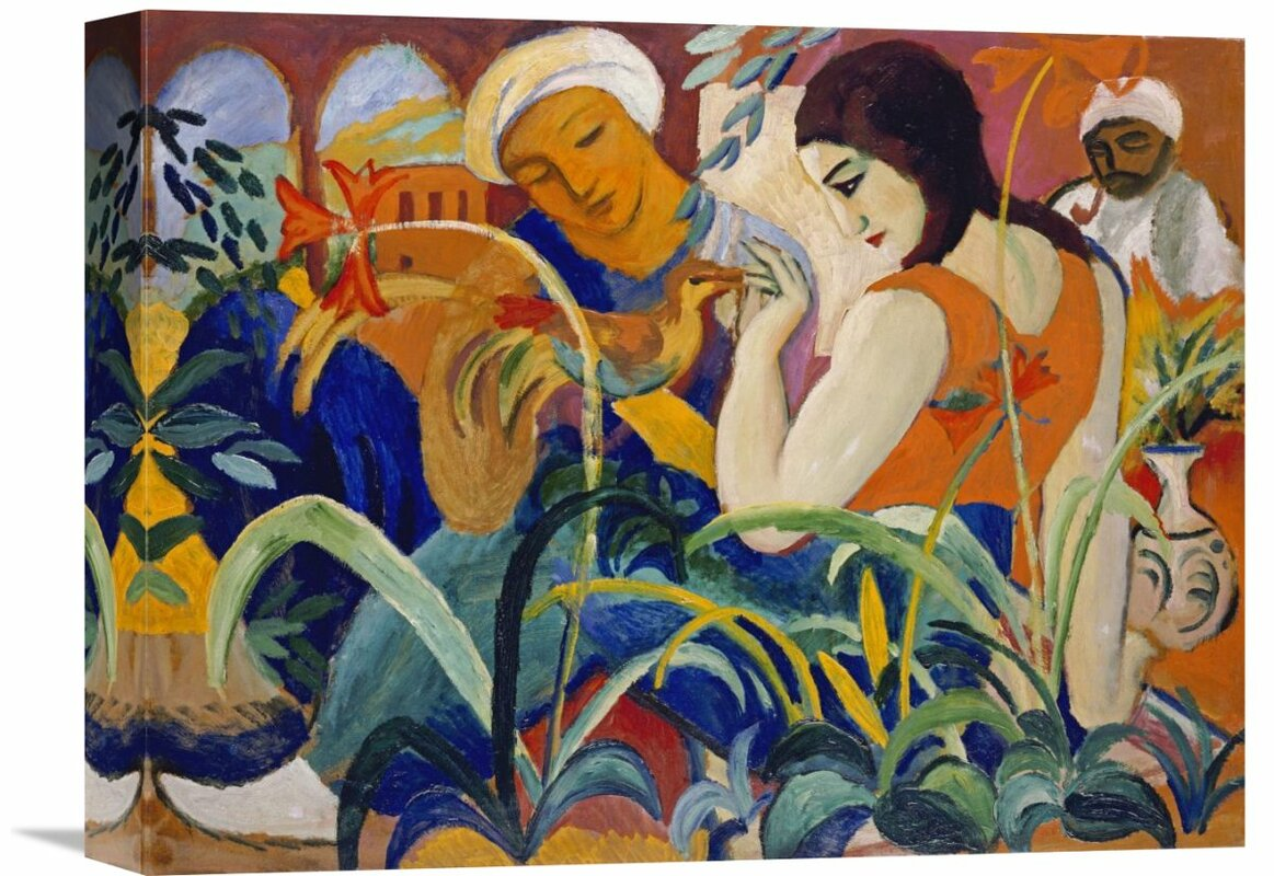 'Eastern Women' by August Macke Painting Print on Wrapped Canvas