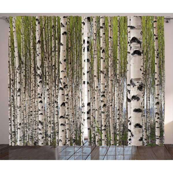 East Urban Home Tree Nature Theme Design Birch Trees With