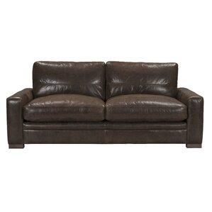 Bassham Top Grain Leather Sofa by Darby Home Co