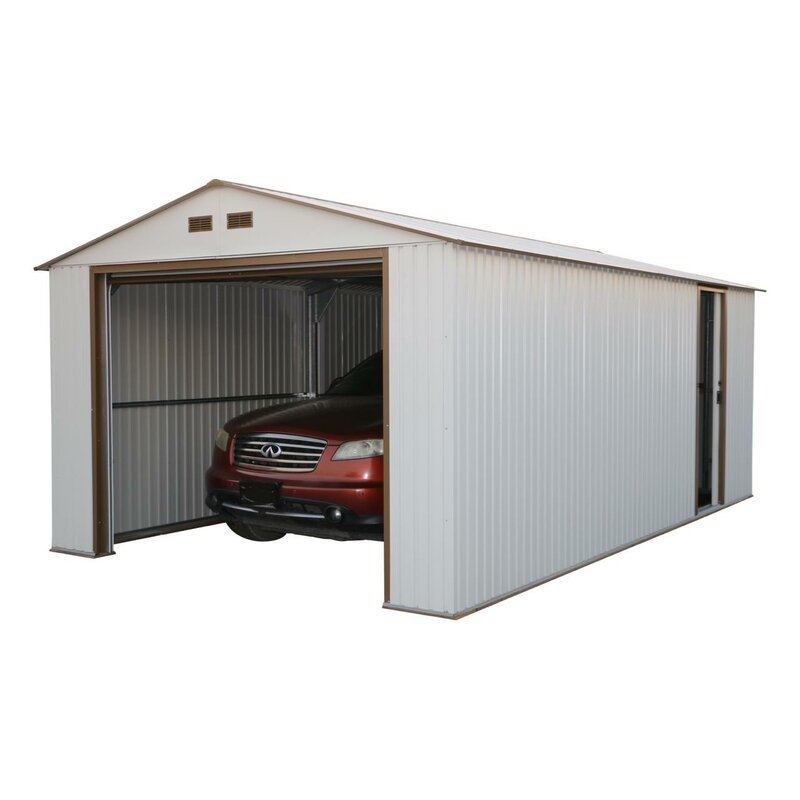 Duramax Imperial 12 Ft. W x 20 Ft. D Metal Garage Shed & Reviews ...