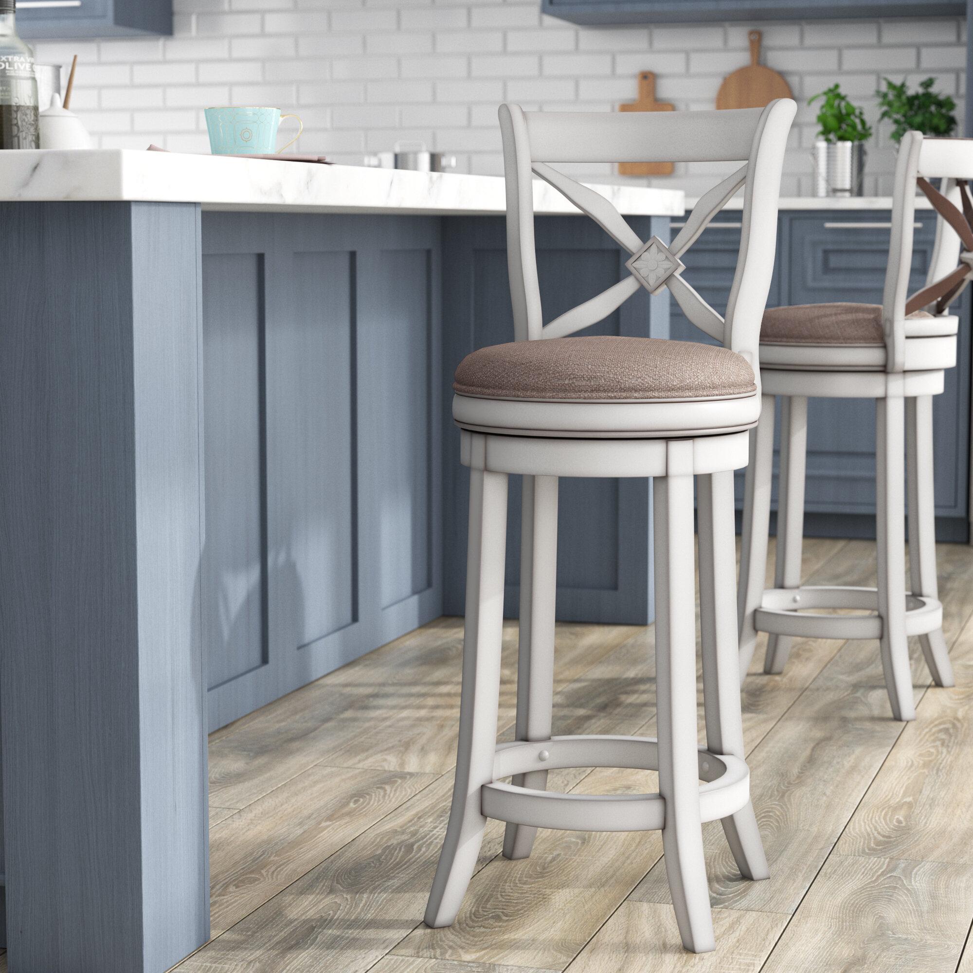 Awe Inspiring Lark Manor Flores 26 Swivel Bar Stool Reviews Wayfair Caraccident5 Cool Chair Designs And Ideas Caraccident5Info