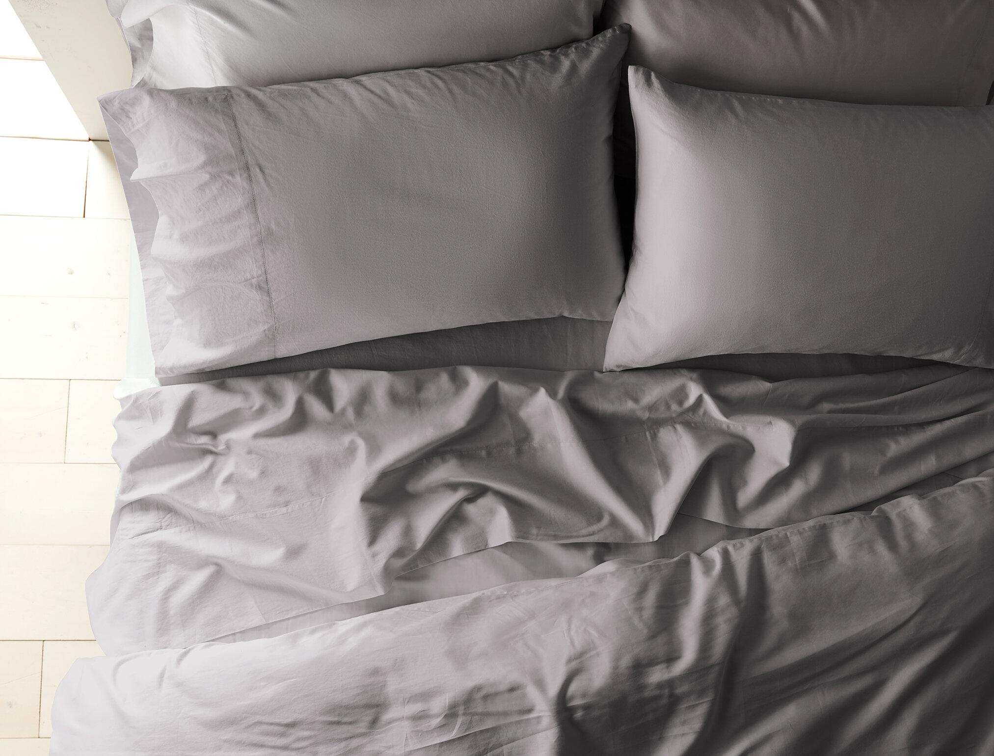 Coyuchi Sateen 300 Thread Count 100 Cotton Pillowcase Reviews Wayfair