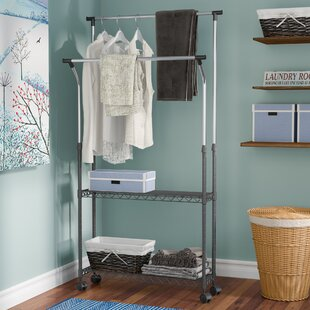 Compare prices 35.4 W Garment Rack By Rebrilliant