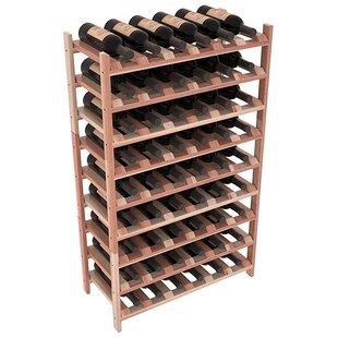 Red Barrel Studio Karnes Redwood Stackable 54 Bottle Floor Wine Rack