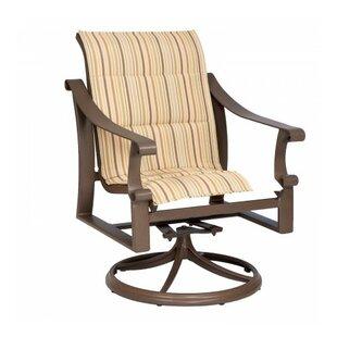 Woodard Bungalow Swivel Patio Dining Chair