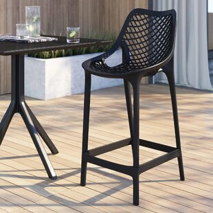 Curnutt 25.6 Counter Height Patio Bar Stool (Set of 2)