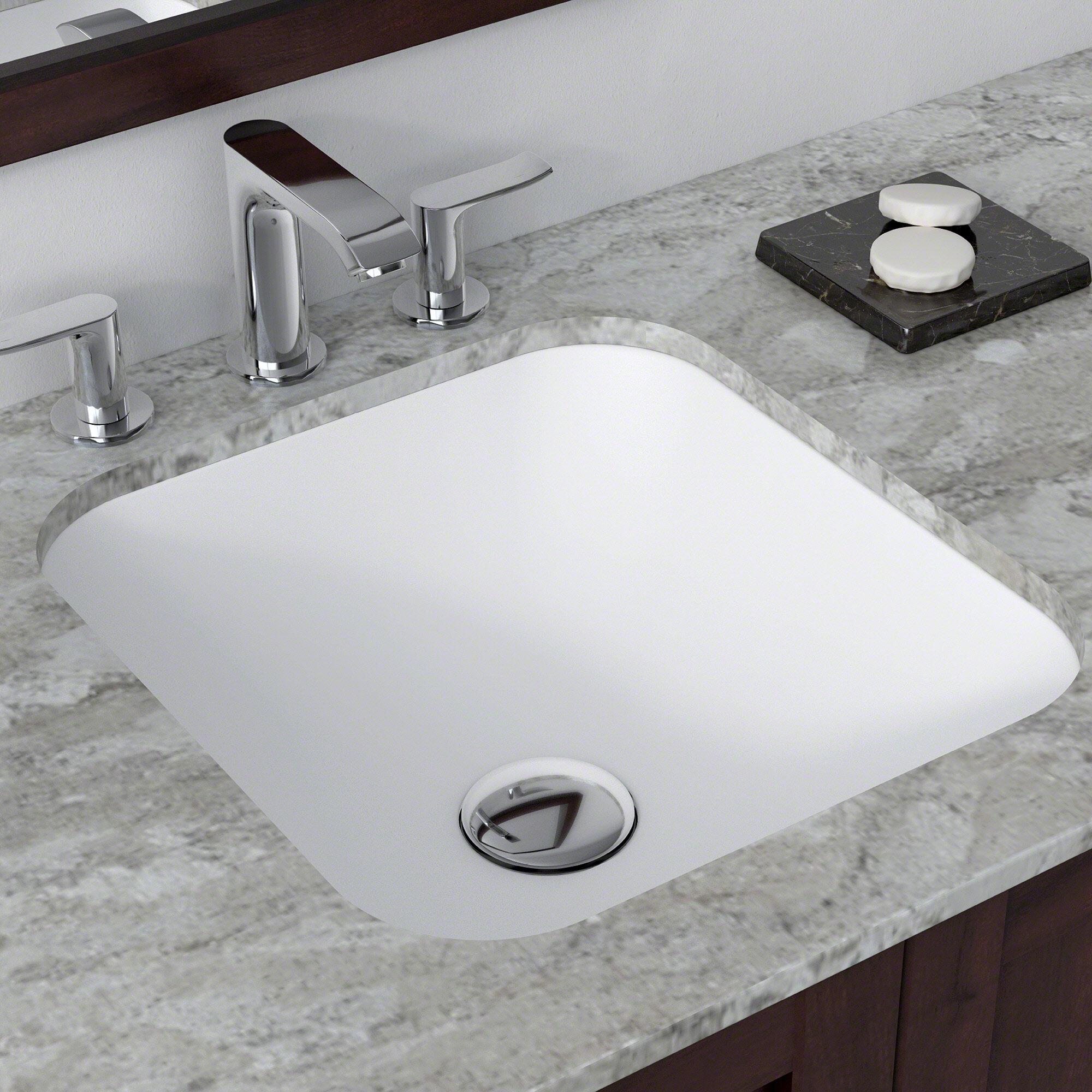 Kraus Natura Square Undermount Bathroom Sink Reviews Wayfair