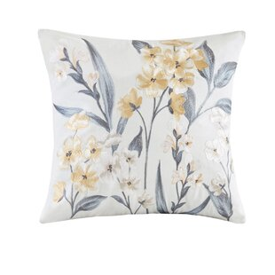 Venus Embroidered Cotton Throw Pillow