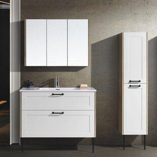 Firat 39 WallMounted Single Bathroom Vanity Set