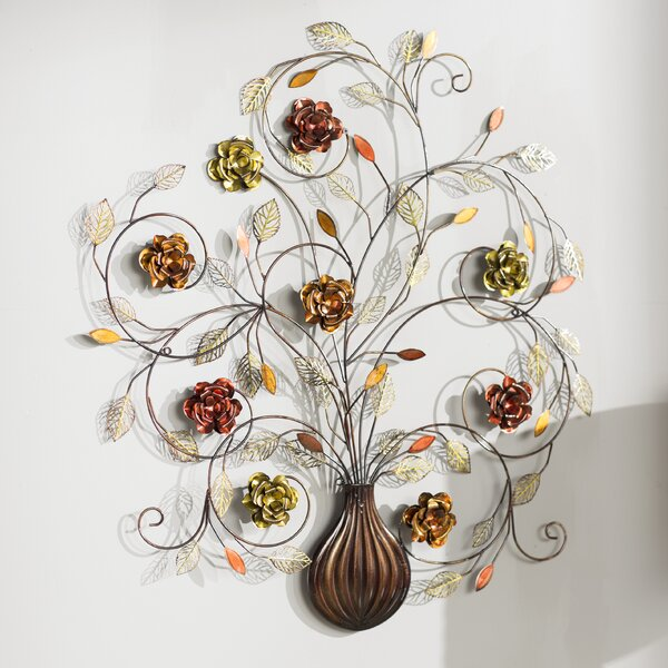 Alcott Hill Flowers Metal Wall Décor & Reviews | Wayfair