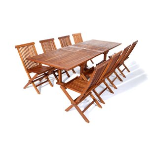 Humphrey 9 Piece Teak Dining Set by Longshore Tides