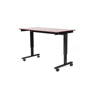 Luxor Height Adjustable Standing Desk in Dark Walnut