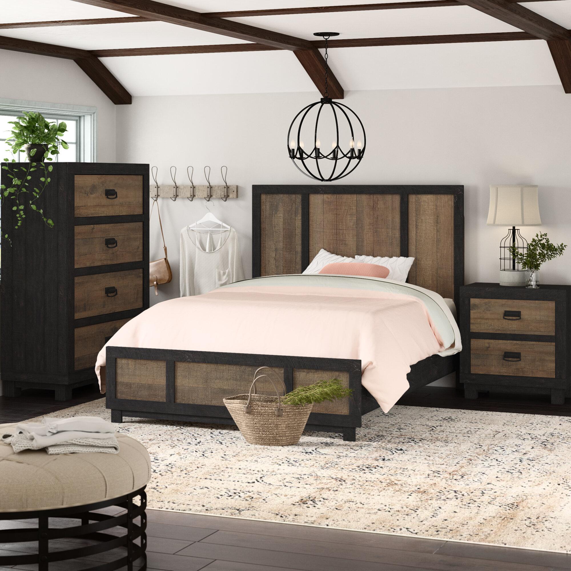 Gracie Oaks Llewellyn Standard 3 Piece Bedroom Set Reviews Wayfair