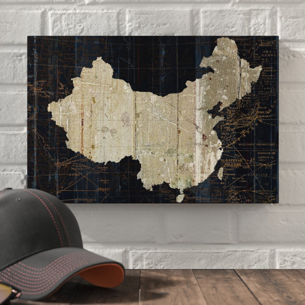 Williston forge old world map china graphic art print on canvas williston forge old world map china graphic art print on canvas wayfair gumiabroncs Image collections