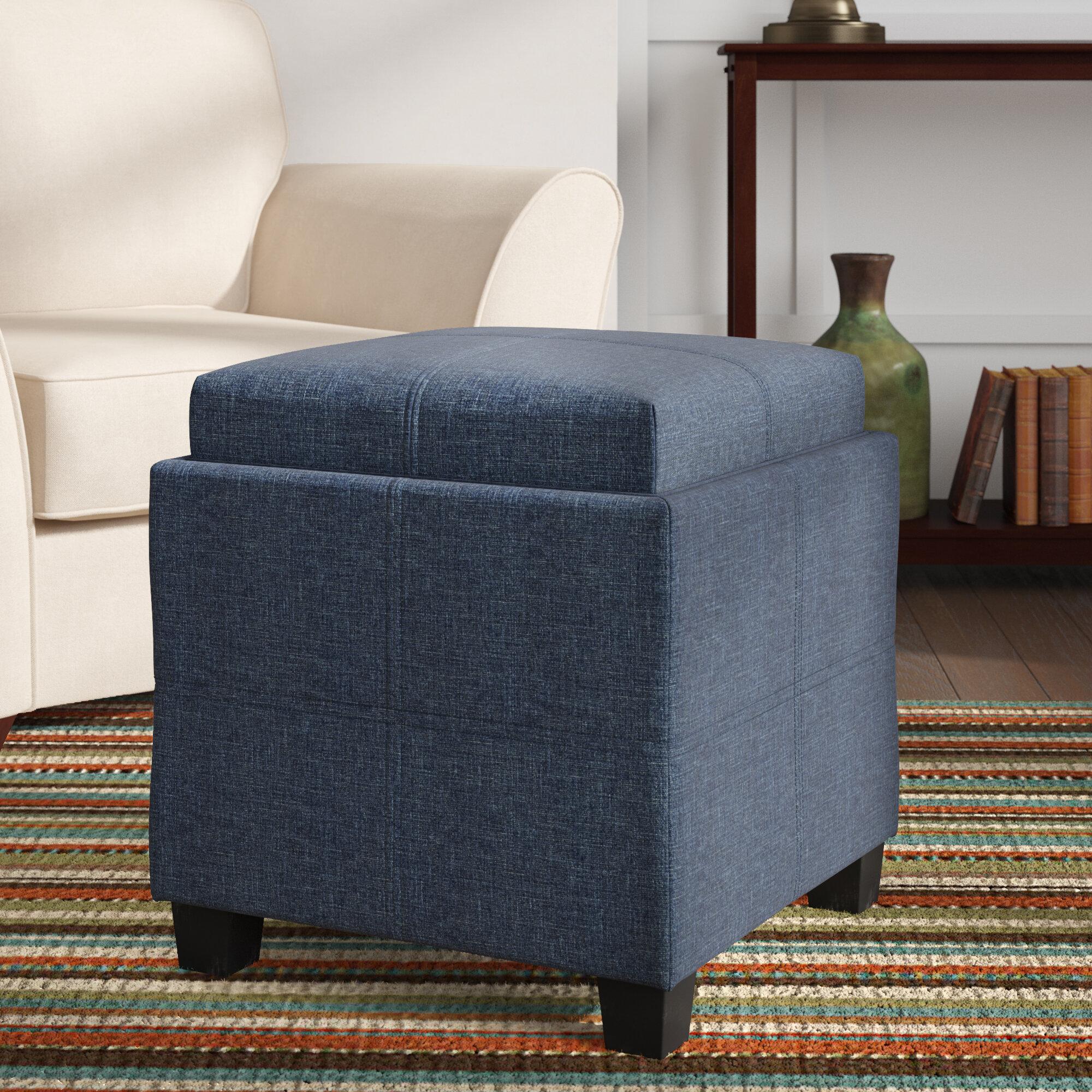 Ebern Designs Pimentel Fabric Storage Cube Reversible Tray Lid