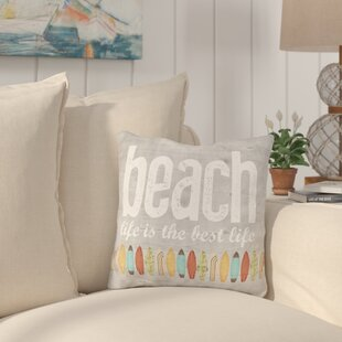 Maitland Beach Life Throw Pillow