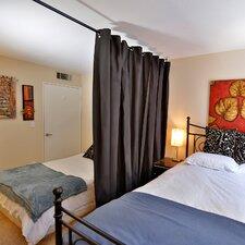 108 x 56-108 Muslin Hanging Medium B Room Divider by RoomDividersNow