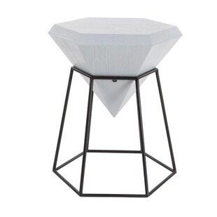 Metal Diamond End Table