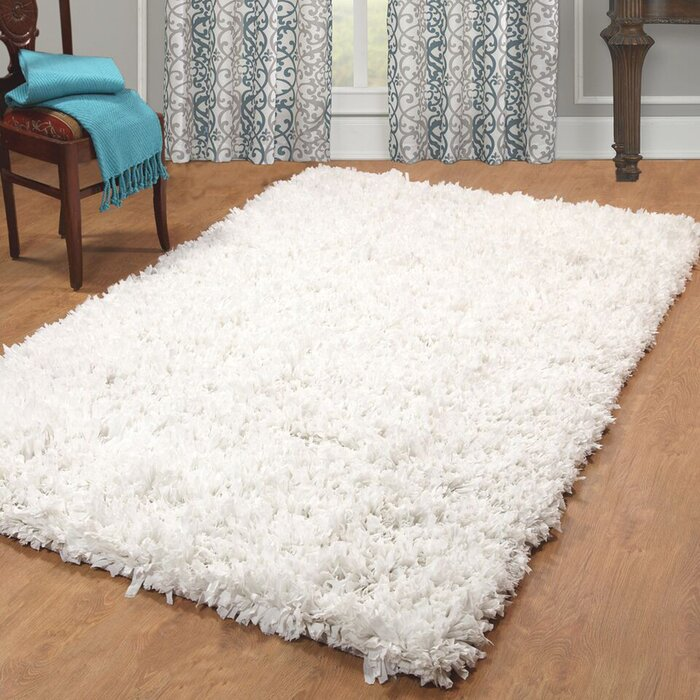 Weiler Hand Woven White Area Rug