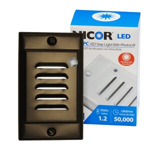 NICOR Lighting LED Step Light with Photocell Sensor