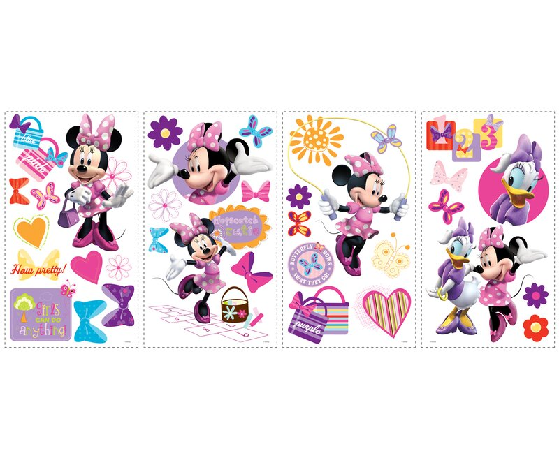 Wallhogs Disney Mickey Friends Minnie Bow Tique Cutout Wall Decal Wayfair