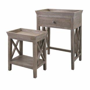 Gracie Oaks Purington 2 Piece Tray Table Set