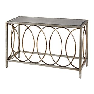 Everdeen Rings Console Table with Mirrored Top