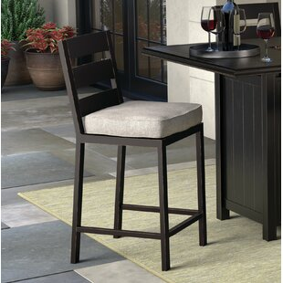 Jasso Patio Bar Stool with Cushion (Set of 2)
