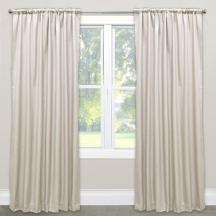 Borland Unlined Solid Room Darkening Rod Pocket Single Curtain Panel by House of Hampton