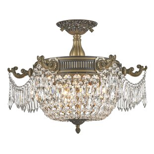 Astoria Grand Baden Atwood 3-Light Semi Flush Mount
