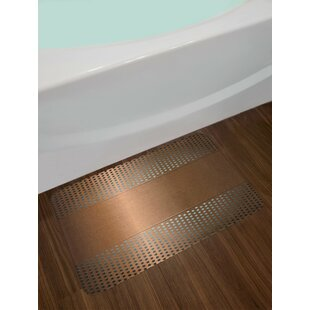 Perforated Ombre Bronze Industrial Bath Rug