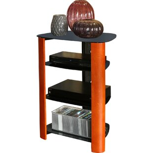 Bargain Audio Rack with Glass Shelves By Latitude Run