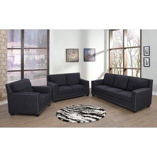 Adena 3 Piece Living Room Set