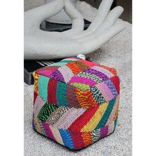 Bonnette Upholstered Pouf by Bungalow Rose