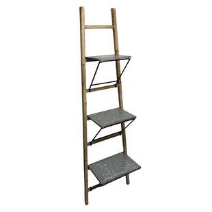 Gracie Oaks Kathlene Wood Wall Ladder Bookcase