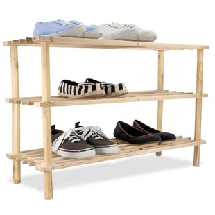 Shop For 3 Tier Wood Shelf 12 Pair Shoe Rack By Millwood Pines