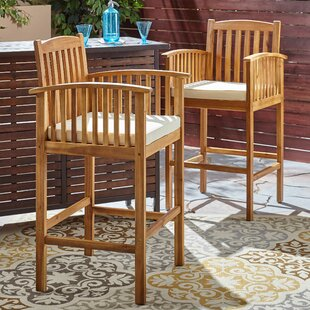 Safira 30'' Patio Bar Stool (Set of 2) by Beachcrest Home