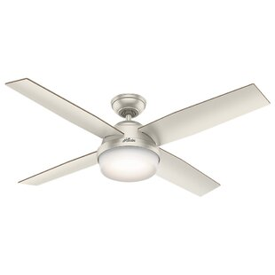 Reviews 52 Dempsey 4 Blade Outdoor LED Ceiling Fan with Remote By Hunter Fan