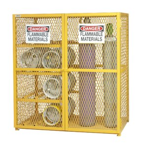 71.75 H x 60 W x 30 D Combination Horizontal and Vertical Cylinder Storage Cabinet by Durham Manufacturing