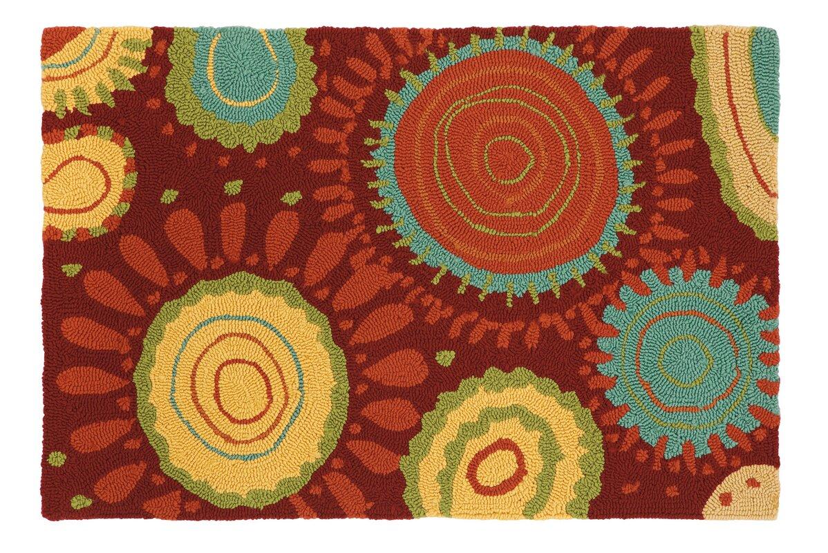 sundew crimson area rug