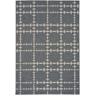 Elsinore Tower Court Coal Indoor/Outdoor Area Rug