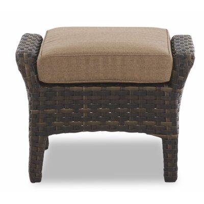 Rouse Outdoor Ottoman With Cushion Fleur De Lis Living