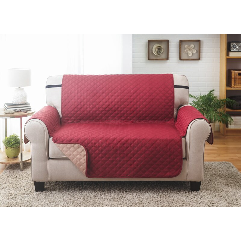 Symple Stuff Box Cushion Loveseat Slipcover Reviews Wayfair
