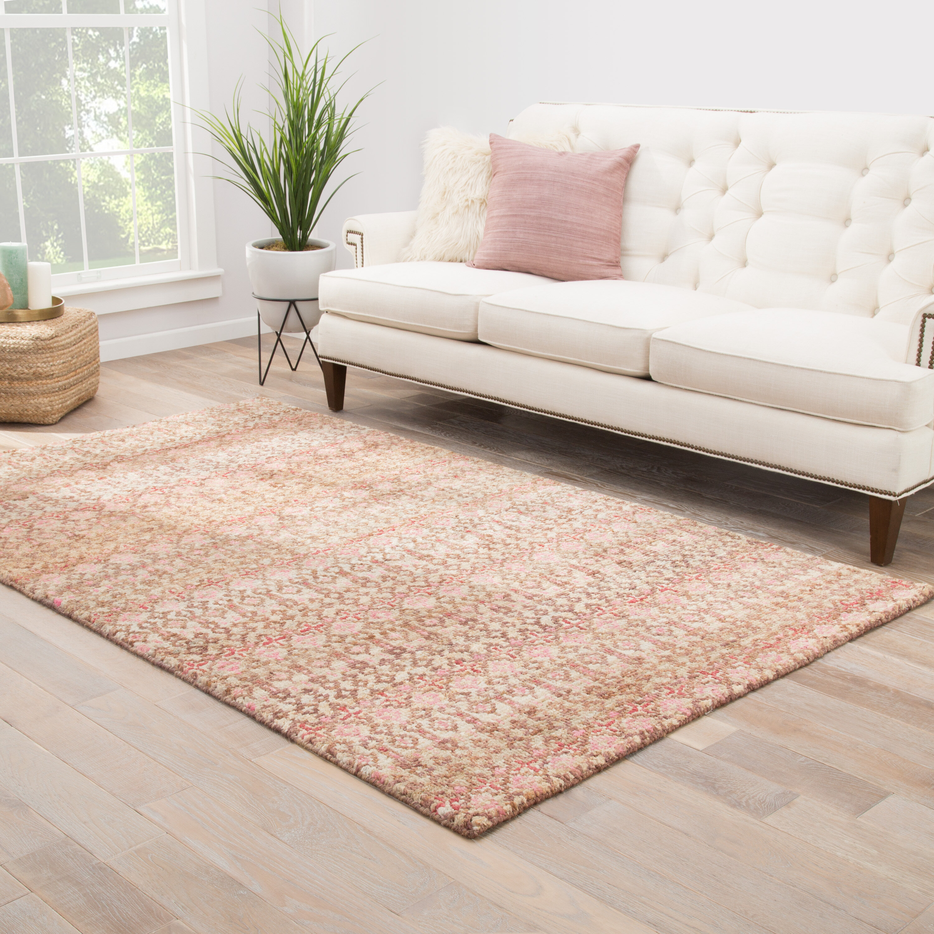 Bungalow Rose Sitkin Geometric Hand Knotted Jute Sisal Brown Area Rug Wayfair
