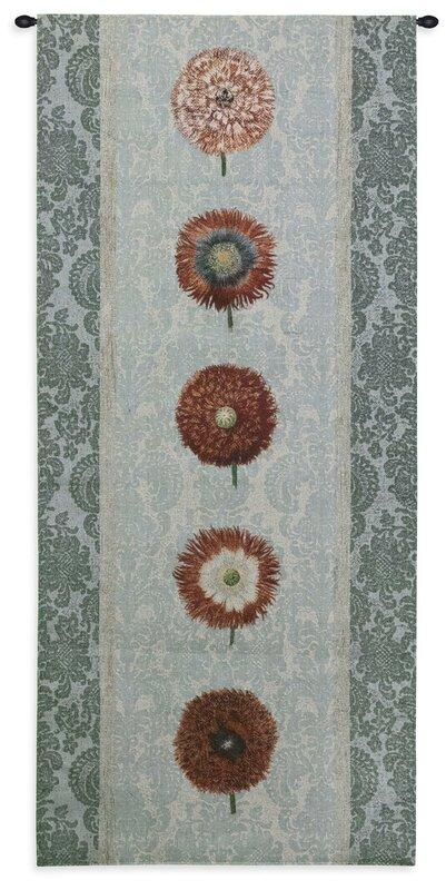 Floral Floating Botanicals Rain Tapestry
