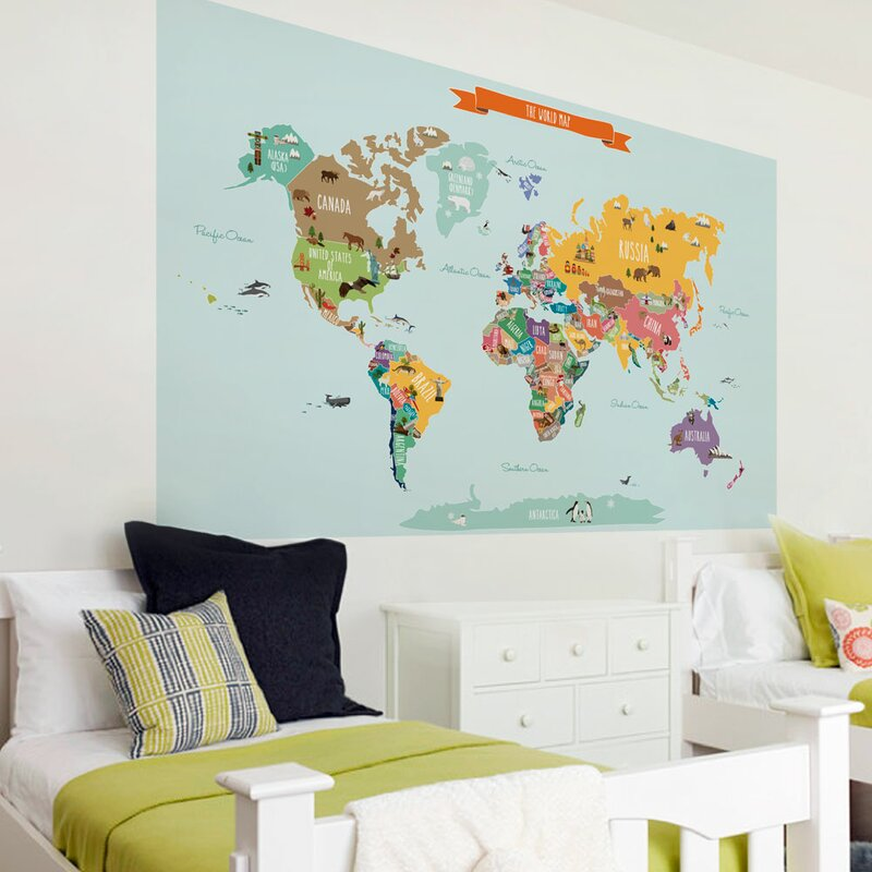 Simpleshapes countries of the world map poster wall decal countries of the world map poster wall decal sciox Choice Image
