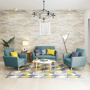 Cavitt Mid Century 3 Piece Living Room Set by George Oliver