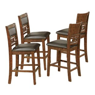 Crown Mark Cally Counter Height Upholstered Dining Chair (Set of 4)